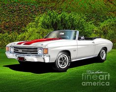 1972 Chevelle Ss Convertible Mixed Media by Danny Whitfield