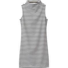 Choies High Neck Sleeveless Dress in Stripe