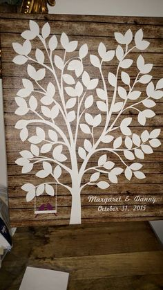 Swingalong Wedding Tree | Guest Book Alternative | Rustic Wedding | Customer Photo | Wedding Color - Purple | peachwik.com