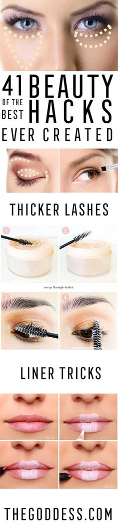 Best Beauty Hacks Ever Created - Tips And Tricks For Skin Care, Make Up, Style, And Products Every Girl Should Try At Least Once In Life. Easy, Cute, Step By Step Tutorials - http://thegoddess.com/best-beauty-hacks-ever