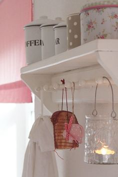 like the canisters on the shelf for my laundry room