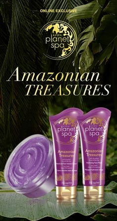 Online Exclusive! The Planet Spa Amazonian Treasures collection just launched! Step into the rainforest with acai, exotic orchids & delicate plumeria #AvonRep