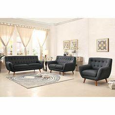 Studio Grey 3-piece Fabric Living Room Set