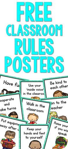 School Worksheets, School Resources, Classroom Behavior, Classroom Decor, First Grade, Second Grade, Classroom Rules Poster, Back To School Activities, Kindergarten