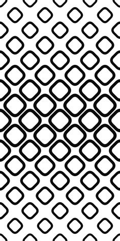 Monochrome seamless pattern from rounded squares