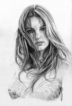 Fuck you Dan Pencil Portrait Drawing, Portrait Sketches, Pencil Art Drawings, Portrait Art, Drawing Sketches, Painting & Drawing, Female Drawing, Female Art, Figure Sketching