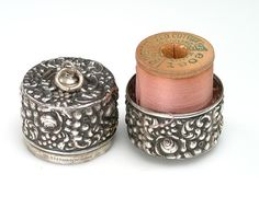 Sterling Chatelaine Thread Case ~   Unger Brothers ~ via Etsy