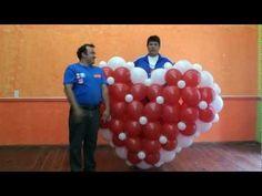 ARCO SIN ESTRUCTURA CON GLOBOS EN FORMA DE CORAZÓN!! #102 - YouTube Balloon Centerpieces, Balloon Decorations, Valentines Balloons, Balloon Crafts, Love Balloon, Heart Balloons, Skills To Learn, Diy Projects To Try, Holidays And Events