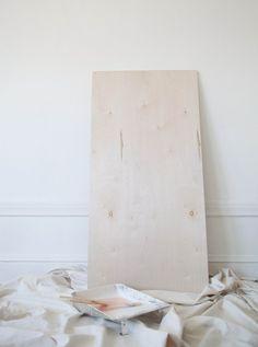 DIY Painted Wooden Headboard
