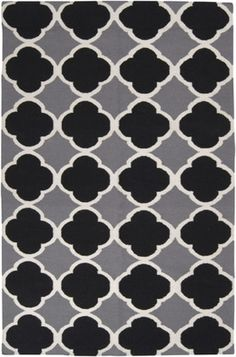 Surya Frontier Ft-66 Gray / White / Black Area Rug