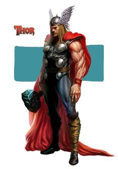 Thor, Norse god of thunder, Marvel superhero version. Hq Marvel, Marvel Comics Art, Marvel Comic Universe, Marvel Heroes, Marvel Comic Character, Comic Book Characters, Marvel Characters, Comic Books Art, Arte Peculiar