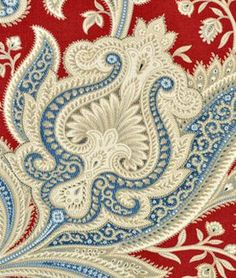 If we paint the kitchen blue, THIS is the fabric I want for the drapes