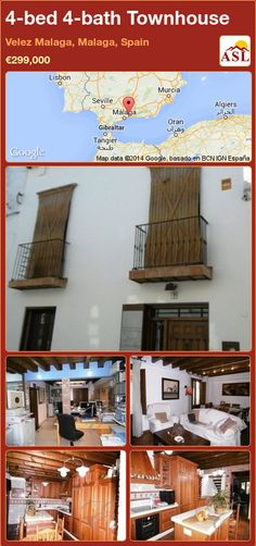 Townhouse for Sale in Velez Malaga, Malaga, Spain with 4 bedrooms, 4 bathrooms - A Spanish Life Malaga Airport, Malaga Spain, Local Architects, Murcia, Second Floor, Ground Floor, Townhouse, Terrace, Yard