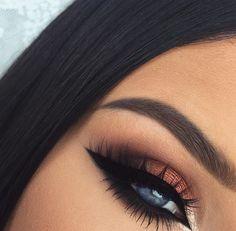 SOMBRA PARA OJOS / maquillaje para ojos / sociales / elegante / de noche / fiesta / delineado / negro / chedron / naranja / lagrimal luminado / bonito