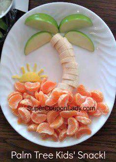 New fruit recipes for kids snacks school lunch 49 ideas Cute Snacks, Healthy Snacks For Kids, Cute Food, Yummy Food, Kid Snacks, School Snacks, Eat Healthy, Yummy Yummy, Beach Snacks