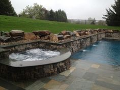 Gorgeous pool and hot tub