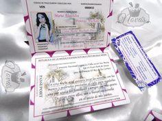 Resultado de imagen para tarjeta pasaporte de 15 años