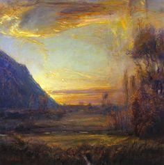 Gordon Brown, Valley Sunset, oil, 30 x - Southwest Art Magazine Contemporary Abstract Art, Abstract Landscape, Klimt, Gordon Brown, Fantasy Paintings, Southwest Art, Magazine Art, Cityscapes, Impressionism