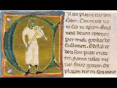 """Dona, tant vos ai preiada"" by Raimbaut de Vaqueiras (lyrics) and trouvère Adam de la Halle (13th c., music), as performed by the Camerata Mediterranea (dir. Joel Cohen) on 'Lo Gai Saber: Troubadour and Minstrel Music 1100-1300' (ERATO CD 2292 45647-2, rec. 1990, http://www.medieval.org/emfaq/cds/era45647.htm)."
