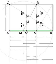 Golden ratio rectangle- a much more involved ratio calculator with measurement choices and print capabilities