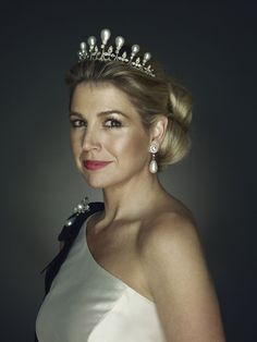 Queen Maxima of The Netherlands: Love the pearl tiara