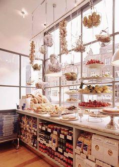 Deco Restaurant, Restaurant Design, Bar Design, Store Design, Deli Shop, Design Garage, Bakery Display, Food Retail, Bakery Cafe