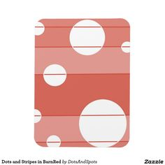 Dots and Stripes in BarnRed Flexible Magnet