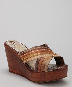 Look at this Passarela Brazil Terra Crisscross Leather Wedge Sandal by Passarela Brazil Summer Wedges, Shoe Boots, Shoe Bag, Cute Sandals, Leather Wedge Sandals, Criss Cross, Fashion Shoes, Women's Fashion, Footwear