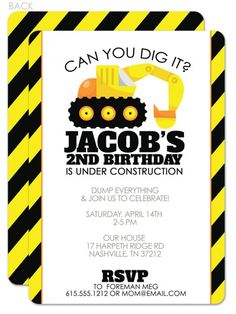 12 Door Signs Available Party Packages Banners Construction Dump Truck Backhoe Yellow Black Boy Stripe Birthday Cupcake Toppers Favor Tags