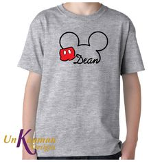 #disney inspired mickey mouse w/pants and name youth t-shirt for boys or girls from $16.0
