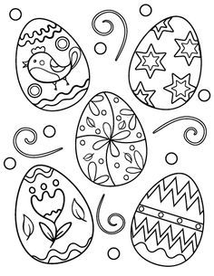 Printable Easter egg coloring page. Free PDF download at http://coloringcafe.com/coloring-pages/easter-egg/