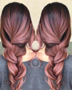 Violet Rose color hair