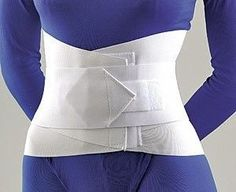 Sacral Lumbar Support with Abdominal Belt - XXX-Large - 31-2083LSTD, White