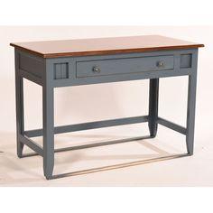 Bay Isle Home Fern Writing Desk Top Finish: Concord Cherry, Base Finish: Hazy Sunrise