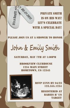 Camo boy baby shower invite military baby shower invitation army diy printable military camouflage sonogram baby shower invitations 1200 filmwisefo Gallery