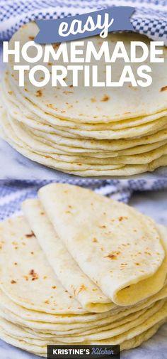 Making Tortillas, Recipes With Flour Tortillas, How To Make Tortillas, Homemade Flour Tortillas, Soft Tortilla Recipe, Tortilla Bread, Tortilla Recipes, Mexican Cooking, Mexican Food Recipes