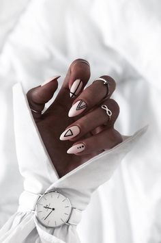 Most Beautiful Winter Nail Designs Shrinking to your Fingertips 2019 - Page 15 of 53 - hairstylesofwomens. com , nails; Cute Acrylic Nails, Matte Nails, Acrylic Nail Designs, Fun Nails, Nail Art Designs, Minimalist Nails, Winter Nails 2019, Indigo Nails, Winter Nail Designs
