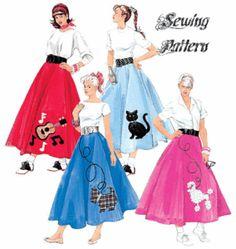 50s Poodle Skirts - Ebay Listing McCalls  5681.