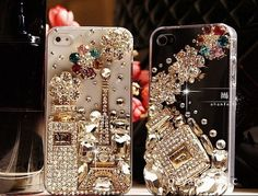Perfume Eiffel Tower iPhone 4 case iPhone 5 case iPhone 5 cover iphone 4s case bling bling iphone case,iphone cover. $19.99, via Etsy.