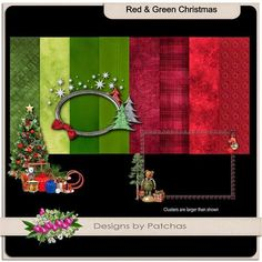 Red and Green Christmas by Scraps of Sunshine