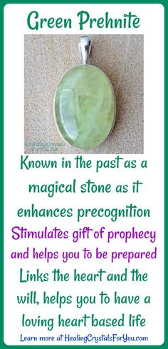 Green Prehnite was known in the past as a #magicalstone as it enhances precognition. Stimulates the gift of #prophecy and helps you to #beprepared. Links the heart and the will and helps you to have a loving heart based life.