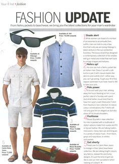 The dashing Nehru jacket from YELL makes it to the pages of Femina Men's Special Issue.