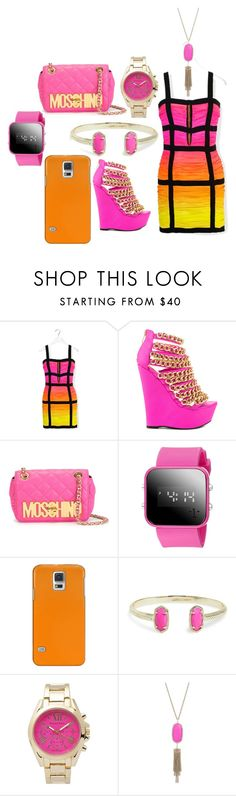 """Untitled #357"" by lean-mean-dean on Polyvore featuring Balmain, Nelly Bernal, Moschino, Casetify, Kendra Scott and Journee Collection"