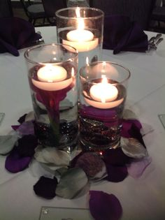 Canadian Honker Events at Apace, Rochester MN #weddings #decor #centerpieces #purple #rosepetals