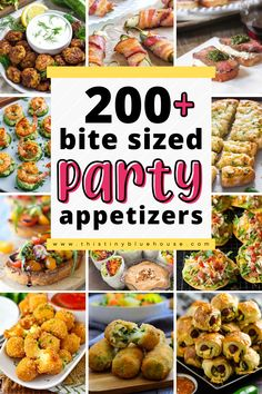Looking for delicious appetizer ideas? Here are over 200 easy small bite appetizers perfect for any special gathering as a starter. Best Party Appetizers, Bite Size Appetizers, Finger Food Appetizers, Appetizer Ideas, Yummy Appetizers, Appetizer Recipes, Finger Foods, Cooking For A Crowd, Food For A Crowd