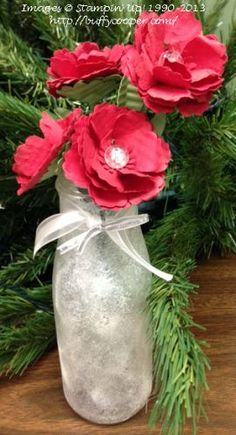 Shimmer Paint frosted vase