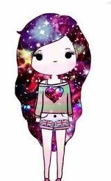 Chica con pelo galactico 8
