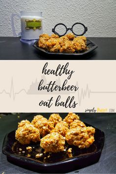 Love Harry Potter AND healthy eating? Try out this simple butterbeer oat ball recipe with video tutorial Oat Ball Recipe, Balls Recipe, Healthy Snacks For Diabetics, Healthy Eating, Healthy Recipes, Harry Potter Snacks, Butterbeer Recipe, Beer Recipes, Smoothie Recipes