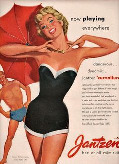 vintage designer jantzen swimsuit 1953 advertisement
