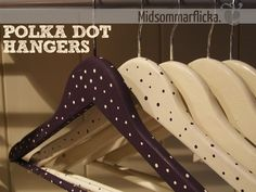 {Polka Dot} Painted Clothes Hangers For Some Fun At The Coat Rack
